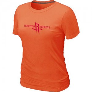 T-shirt principal de logo Houston Rockets NBA Big & Tall Orange - Femme