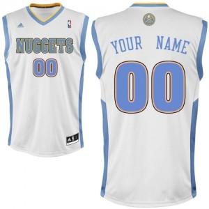 Denver Nuggets Personnalisé Adidas Home Blanc Maillot d'équipe de NBA Vente - Swingman pour Enfants