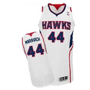Atlanta Hawks #44 Adidas Home Blanc Authentic Maillot d'équipe de NBA pour pas cher - Pete Maravich pour Homme