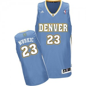 Maillot Adidas Bleu clair Road Swingman Denver Nuggets - Jusuf Nurkic #23 - Homme