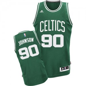 Maillot NBA Swingman Amir Johnson #90 Boston Celtics Road Vert (No Blanc) - Homme