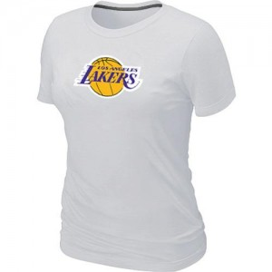 Los Angeles Lakers Big & Tall Blanc Tee-Shirt d'équipe de NBA la meilleure qualité - pour Femme