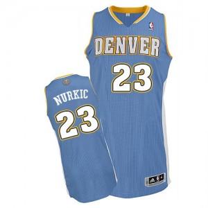 Denver Nuggets Jusuf Nurkic #23 Road Authentic Maillot d'équipe de NBA - Bleu clair pour Homme