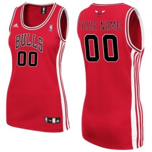 Maillot Adidas Rouge Road Chicago Bulls - Authentic Personnalisé - Femme