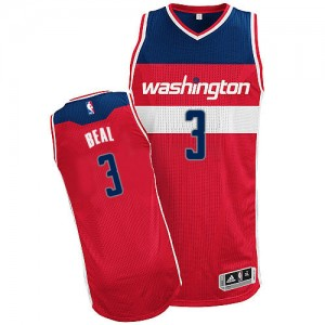 Maillot NBA Washington Wizards #3 Bradley Beal Rouge Adidas Authentic Road - Homme