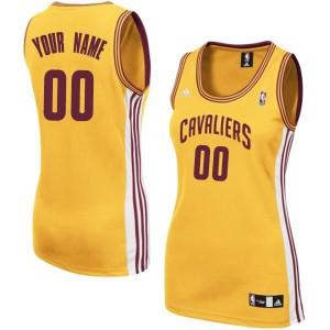 Maillot NBA Authentic Personnalisé Cleveland Cavaliers Alternate Or - Femme