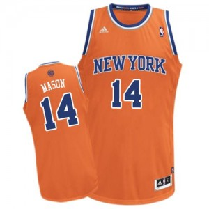 Maillot Adidas Orange Alternate Swingman New York Knicks - Anthony Mason #14 - Homme