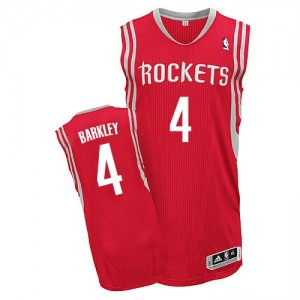 Maillot NBA Authentic Charles Barkley #4 Houston Rockets Road Rouge - Homme