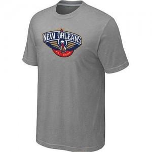 New Orleans Pelicans Big & Tall Gris Tee-Shirt d'équipe de NBA magasin d'usine - pour Homme