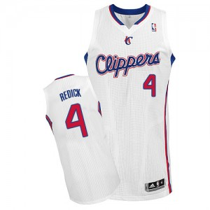 Maillot Authentic Los Angeles Clippers NBA Home Blanc - #4 JJ Redick - Homme