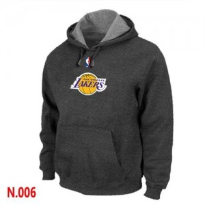 Pullover Sweat Los Angeles Lakers NBA Gris foncé - Homme