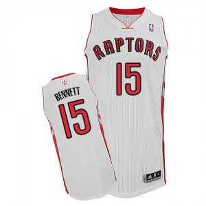 Maillot Adidas Blanc Home Authentic Toronto Raptors - Anthony Bennett #15 - Homme