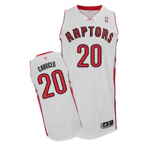 Maillot Adidas Blanc Home Authentic Toronto Raptors - Bruno Caboclo #20 - Homme