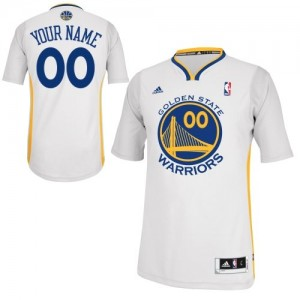 Maillot NBA Golden State Warriors Personnalisé Swingman Blanc Adidas Alternate - Homme