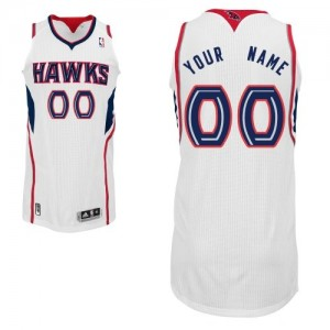 Maillot NBA Blanc Authentic Personnalisé Atlanta Hawks Home Enfants Adidas