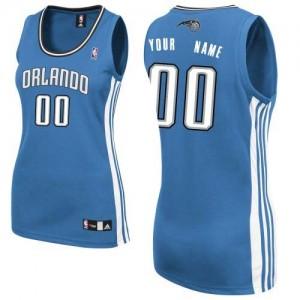 Orlando Magic Authentic Personnalisé Road Maillot d'équipe de NBA - Bleu royal pour Femme
