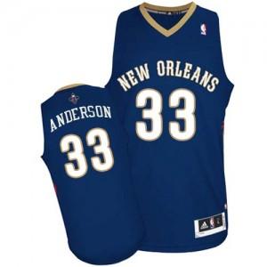 New Orleans Pelicans Ryan Anderson #33 Road Authentic Maillot d'équipe de NBA - Bleu marin pour Homme