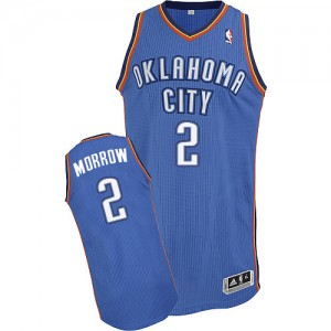 Maillot NBA Oklahoma City Thunder #2 Anthony Morrow Bleu royal Adidas Authentic Road - Homme