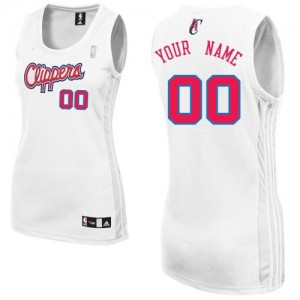 Maillot Los Angeles Clippers NBA Home Blanc - Personnalisé Authentic - Femme