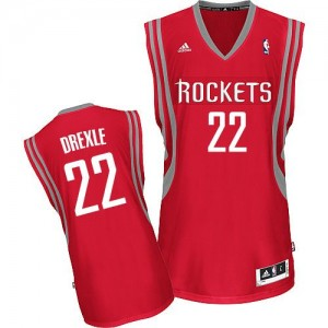 Houston Rockets Clyde Drexler #22 Road Swingman Maillot d'équipe de NBA - Rouge pour Homme
