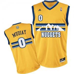 Denver Nuggets Emmanuel Mudiay #0 Alternate Swingman Maillot d'équipe de NBA - Or pour Homme