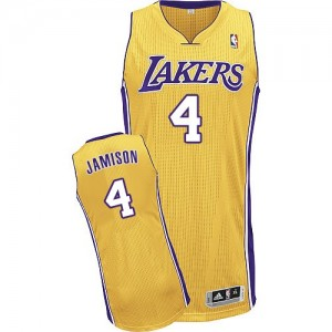 Maillot NBA Los Angeles Lakers #4 Byron Scott Or Adidas Authentic Home - Homme