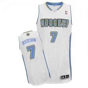 Denver Nuggets JJ Hickson #7 Home Authentic Maillot d'équipe de NBA - Blanc pour Homme