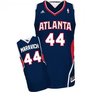 Maillot Adidas Bleu marin Road Swingman Atlanta Hawks - Pete Maravich #44 - Homme