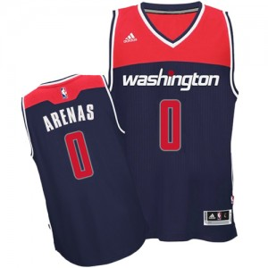 Maillot Adidas Bleu marin Alternate Authentic Washington Wizards - Gilbert Arenas #0 - Homme