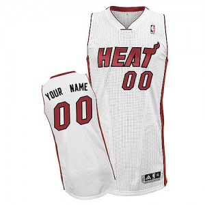 Maillot Miami Heat NBA Home Blanc - Personnalisé Authentic - Enfants