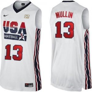 Team USA #13 Nike 2012 Olympic Retro Blanc Swingman Maillot d'équipe de NBA en ligne pas chers - Chris Mullin pour Homme