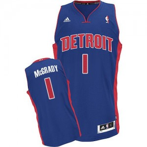 Maillot Swingman Detroit Pistons NBA Road Bleu royal - #1 Tracy McGrady - Homme