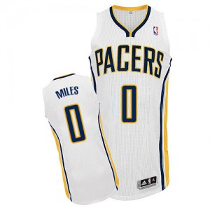 Maillot NBA Authentic C.J. Miles #0 Indiana Pacers Home Blanc - Homme