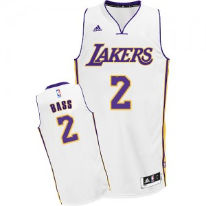 Maillot NBA Blanc Brandon Bass #2 Los Angeles Lakers Alternate Swingman Homme Adidas