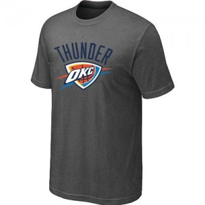 T-shirt principal de logo Oklahoma City Thunder NBA Big & Tall Gris foncé - Homme