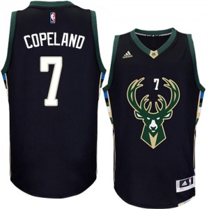 Maillot Adidas Noir Alternate Authentic Milwaukee Bucks - Chris Copeland #7 - Homme