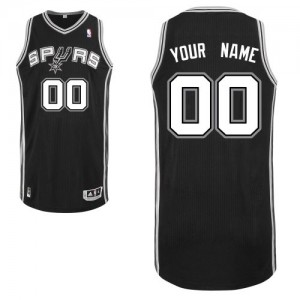 Maillot San Antonio Spurs NBA Road Noir - Personnalisé Authentic - Enfants