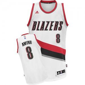 Maillot NBA Swingman Al-Farouq Aminu #8 Portland Trail Blazers Home Blanc - Homme