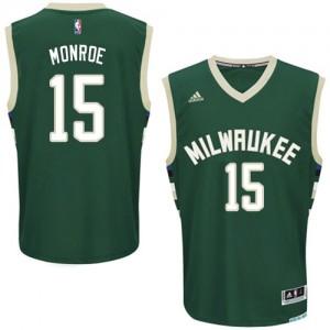 Maillot Swingman Milwaukee Bucks NBA Road Vert - #15 Greg Monroe - Homme