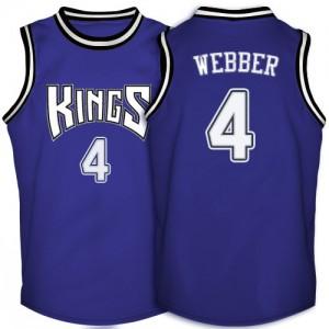 Sacramento Kings #4 Adidas Throwback Violet Swingman Maillot d'équipe de NBA boutique en ligne - Chris Webber pour Homme