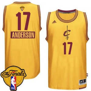 Maillot NBA Or Anderson Varejao #17 Cleveland Cavaliers 2014-15 Christmas Day 2015 The Finals Patch Swingman Homme Adidas
