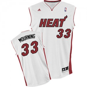 Maillot Swingman Miami Heat NBA Home Blanc - #33 Alonzo Mourning - Homme