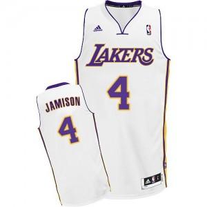 Maillot NBA Blanc Byron Scott #4 Los Angeles Lakers Alternate Swingman Homme Adidas