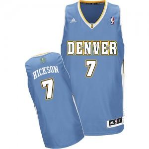 Denver Nuggets #7 Adidas Road Bleu clair Swingman Maillot d'équipe de NBA Remise - JJ Hickson pour Homme