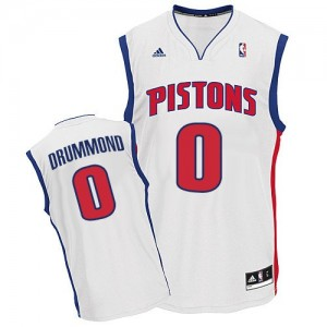 Maillot Adidas Blanc Home Swingman Detroit Pistons - Andre Drummond #0 - Homme