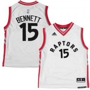 Maillot NBA Authentic Anthony Bennett #15 Toronto Raptors Blanc - Homme
