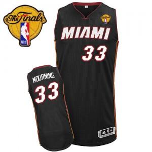 Miami Heat #33 Adidas Road Finals Patch Noir Swingman Maillot d'équipe de NBA en ligne pas chers - Alonzo Mourning pour Homme