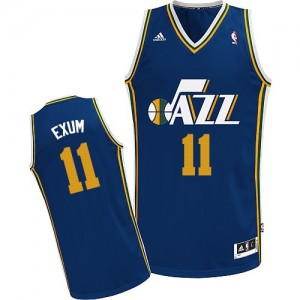 Maillot NBA Bleu marin Dante Exum #11 Utah Jazz Road Swingman Homme Adidas
