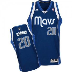 Maillot NBA Bleu marin Devin Harris #20 Dallas Mavericks Alternate Swingman Homme Adidas