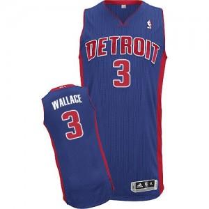 Detroit Pistons #3 Adidas Road Bleu royal Authentic Maillot d'équipe de NBA Soldes discount - Ben Wallace pour Homme